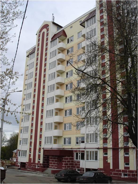 10-ти этажный жилой дом с поквартирным теплоснабжением. г. Серпухов, Московская область